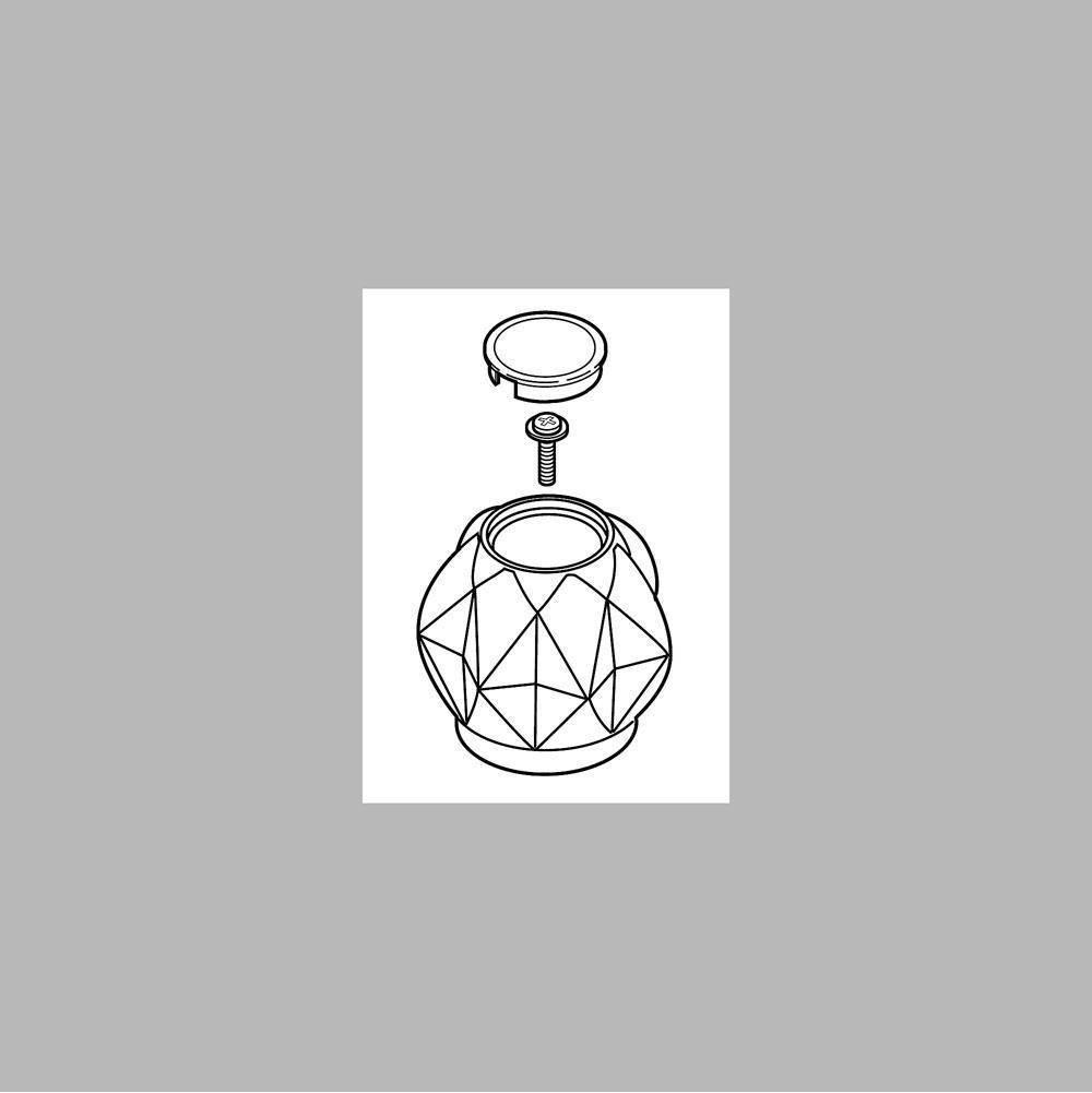 Chrome Peerless RP70264 Two Clear Knob Handle Kit