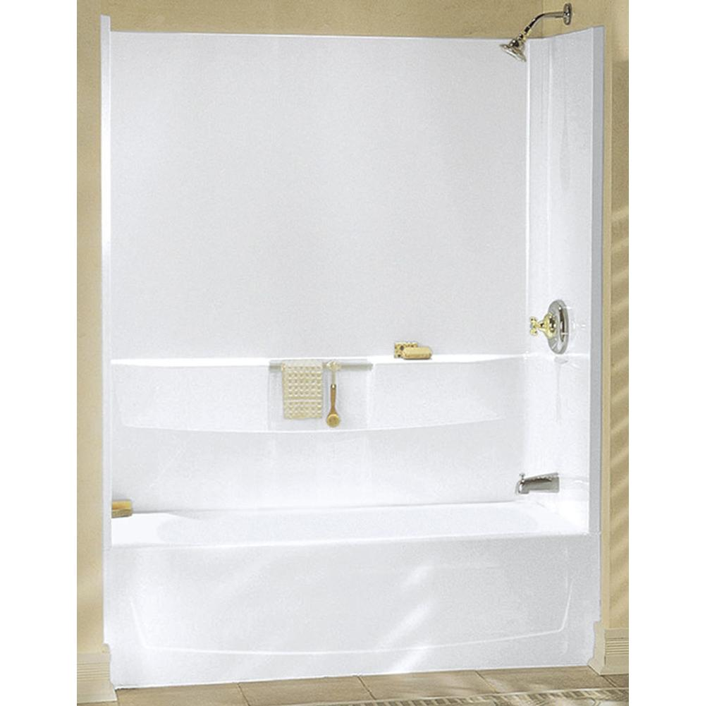 Sterling Ensemble White Gelcoat And Fiberglass Bathtub Wall Surround ...